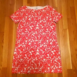 Tory Burch short sleeve scoop neck dress floral